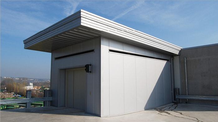 Evo-Park - Construction d'un parking multi-niveaux métallique avec aménagement d'un ascenseur pour voitures
