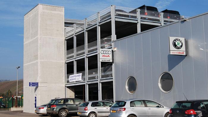 Evo-Park - Construction d'un parking aérien métallique pour un concessionnaire automobile