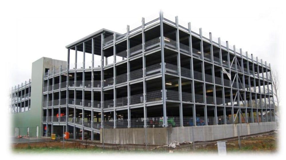 Evo-Park - Construction d'un parking à étages métallique pour les employés d'une société luxembourgeoise