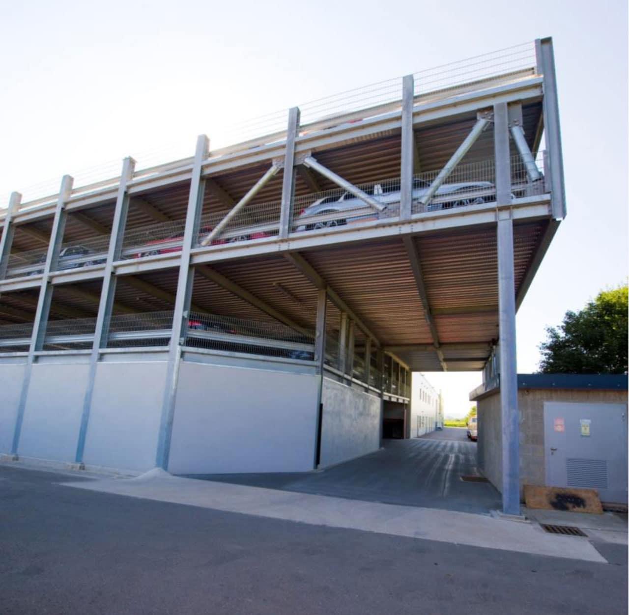 R f rences construction de parkings a riens m talliques for Structure metallique architecture