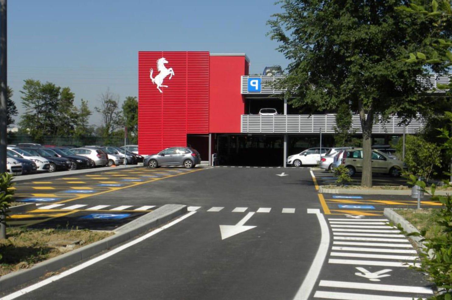 Evo-Park - Réalisation d'un parking aérien ouvert en structure métallique
