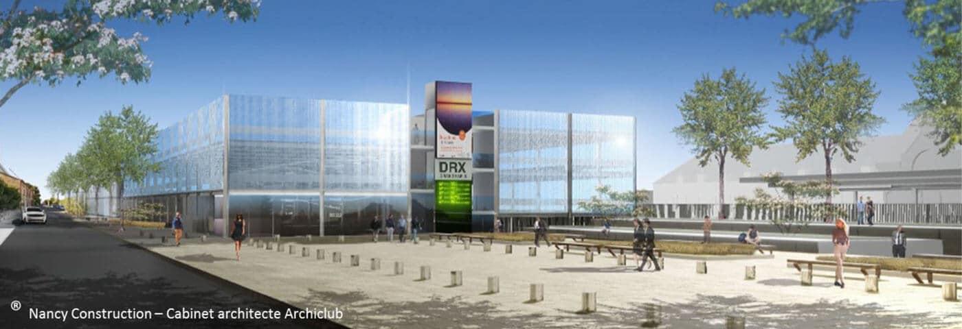 Parking silo métallique de 300 places pour le pôle multimodal de l'agglomération de DREUX